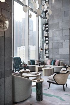 Stunning luxury interior design ideas from modern boutique hotels. Lobby, bedroom, stairways and entryways, a room by room guide to find inspiration with the best interior architecture from world renowned hotels. French Interior Design, Luxury Interior Design, Best Interior, Home Interior, Interior Architecture, Design Interiors, Hotel Lounge, Lobby Lounge, Hotel Lobby Design