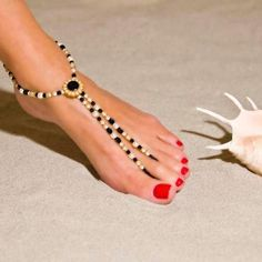 Foot jewelry. Barefoot sandal