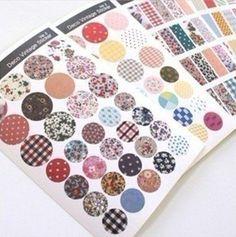 6 pcs/lot  New Vintage Deco Ver.2 paper sticker Decorative fabric print Label Multifunction