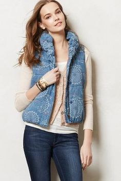 Chambray Puffer Vest