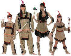 Familia de Indios #disfraces #carnaval #disfracesparagrupos