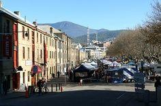 Tasmania. Salamanca. Visit the famous market here held every Saturday.