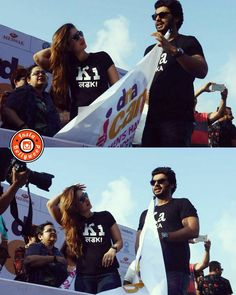Ladka and Ladki at the flag off the DNA Half Marathon earlier today. @BOLLYWOODREPORT    . . #bollywoodreport #bollywood #india #indian #desi #bollywoodactress #mumbai #bollywoodfashion #bollywoodstyle #bollywoodmovie #indianfashion #indianstyle #arjunkapoor #kiandka #kareenakapoor #kareenakapoorkhan . For more follow #BollywoodScope and visit http://bit.ly/1pb34Kz