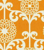 Home Decor Print Fabric-Waverly Fun Floret Citrus Orange