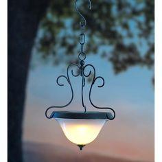 Plow & Hearth Scrollwork Solar 1 Light Outdoor Pendant | Wayfair Supply