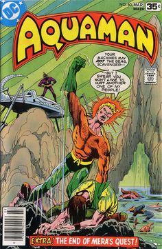 David Michelinie pushes Aquaman into the (bell-bottoms and disco hair not included). Dc Comic Books, Comic Book Artists, Comic Book Covers, Dc Comics, Star Comics, Aquaman Comics, Marvel Fan Art, Marvel Vs, Nightwing And Starfire