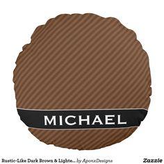 Rustic-Like Dark Brown & Lighter Brown Stripes