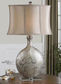"""I can order this. G  Navelli Lamp  from:Uttermost   32'H x  shade-20W x 11"""" dia"""