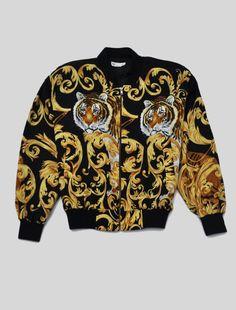 Tiger Silk Bomber Jacket