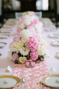 Peonies for days! http://www.stylemepretty.com/pennsylvania-weddings/2015/06/05/classic-pittsburgh-wedding/ | Photography: Mary Dougherty - http://www.marydougherty.com/