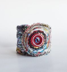 Artsy One of a Kind Cuff Bracelet UpCycled ❤ by itzaChicThing