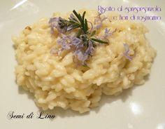 Risotto al gorgonzola e fiori di rosmarino