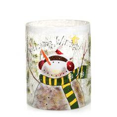 Snowman Crackle : Jar Holder : Yankee Candle  this jar holder is so cute!!!