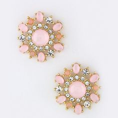 """Crystal floral burst earrings available in 4 colors. Drop approx. 1"""" Post back Lead compliant Not intended for children under 12 year of age"""