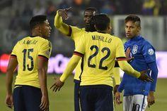 17/06/2015 - #Col 1 x 0 #Bra  Triunfo de Colombia en Santiago, Chile  Gol de Murillo 35 '1T
