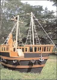 Image result for wooden ships boats as playhouses
