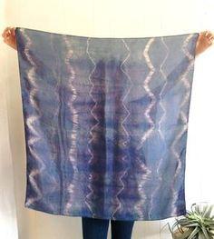 Shibori Silk Zigzag Summer Scarf by Miranda Bennett on Scoutmob Shoppe Textile Patterns, Print Patterns, Textiles, How To Tie Dye, How To Wear, Kooba Handbags, Scarf Vest, Summer Scarves, Silk Scarves