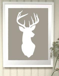 Oh deer Lin Housse de Coussin Oreiller-Drôle Stag Blague Animal