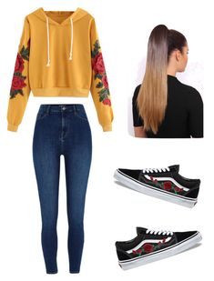 """Untitled #41"" by haileymagana on Polyvore featuring River Island and Vans"