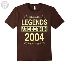 Mens Legends Are Born in 2004 Birthday Gift Shirt Large Brown - Birthday shirts (*Amazon Partner-Link)