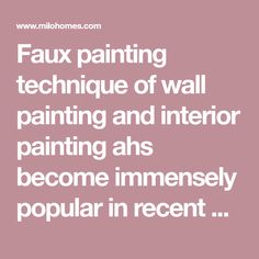 Faux painting technique of wall painting and interior painting ahs become immensely popular in recent days and have gained pretty good popularity in Europe and America. Faux painting is a contempor… Faux Painting Techniques, Interior Painting, Gold Walls, Ahs, Pretty Good, Europe, America, Popular, Black