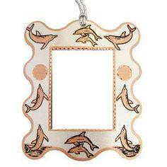 Dolphin Photo Frame Ornament