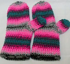Crocheted Mittens By Spooner 1129 by TheSecurityBlanketCo on Etsy, $50.00