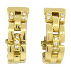 Cartier Panthere Maillon Diamond 18k Gold Earrings Featured in our upcoming auction on November 2, 2015 11:00AM EST!