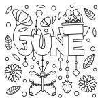 coloring pages to print FREE June Coloring Page printable. PRINT and COLOR Summer PDF Coloring Books from PrimaryGames. Our online collection of EASY and ADULT Coloring Pages feature the BEST pictures for you to color. Summer Coloring Sheets, Fall Coloring Pages, Coloring Pages To Print, Free Printable Coloring Pages, Free Coloring, Adult Coloring Pages, Coloring Pages For Kids, Coloring Books, Fairy Coloring