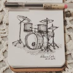 How To Draw A Drum Set Cool Drums Drawings Drums Drums Art