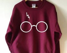 Harry Potter Sweatshirt Lightning Glasses Sweater by Tmeprinting