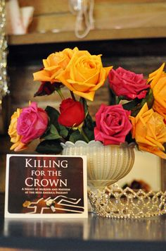 """Girl's Murder Mystery Party: Killing for the Crown """"With the crown on the line, everyone seems desperate to gain the competitive edge on their rivals. and for one guest that means murder! 11th Birthday, Birthday Parties, Birthday Ideas, Games To Play Inside, Murder Mystery Games, 60s Party, Crown Party, Mystery Parties, Party Themes"""