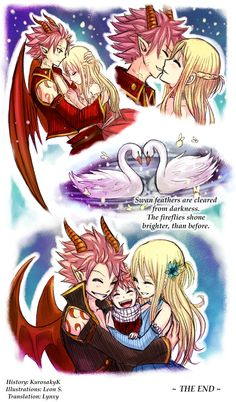 Natsu and Lucy by Leonstar. Natsu look rather adorable in this picture. Nalu Fairy Tail, Arte Fairy Tail, Fairy Tail Amour, Fairy Tail Natsu And Lucy, Fairy Tail Guild, Fairy Tail Ships, Fairytail, Gruvia, Fairy Tail Couples