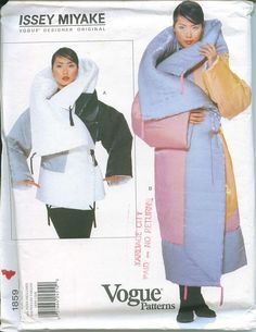 Vogue 1859 Issey Miyake Designer Original Pattern All Sizes Winter Coat OOP from 1996 Box Coat Flying Squirrel  NEED. I would live, if someone could help me find designer patterns.  this is crazy