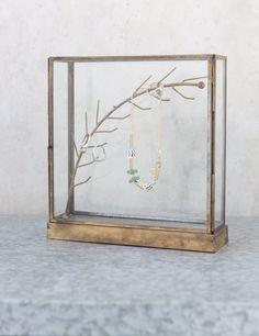 Brass jewellery case from Rose & Grey