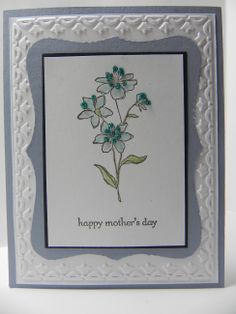 stampin up top note, framed tulips, teeny tiny wishes, Simply Soft stamp set