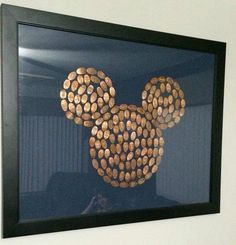 Pressed pennies from the Disney Parks.  Great way to display your keepsakes.