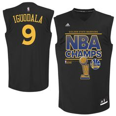Andre Iguodala Golden State Warriors adidas 2015 NBA Finals Champions Jersey - Black - $59.99