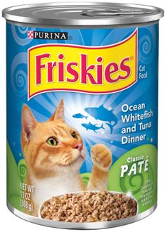 Purina Friskies Classic Pate Ocean Whitefish & Tuna Dinner Cat Food, 13 Ounce Can.  $1.09