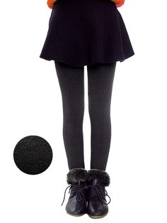 229d42106 Girls Winter Warm Fleece Lined Elastic Waist Thick Leggings Velvet Stretchy Leggings  Tights Pants - Grey - C718LONOX5K