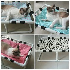 Cat Litter Box Ideas Hidden Discover ByAdissara shared a new photo on Etsy Diy Cat Bed, Cool Cat Beds, Hiding Cat Litter Box, Pet Hammock, Cat Perch, Cat Stands, Cat Room, Cat Accessories, Here Kitty Kitty