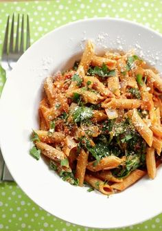 Tomato Pasta with Spinach