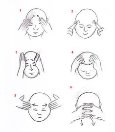 Acupressure Headache Head and face qigong Massage Dos, Face Massage, Good Massage, Tai Chi Chuan, Tai Chi Qigong, 7 Chakras Meditation, Meditation Music, Marshal Arts, Mudras