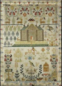An early 19th century needlework sampler by Margaret Butchart,Dated 1818,