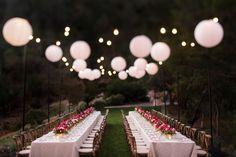 Calistoga Ranch Napa Wedding Reception flowers long-tables Centerpieces