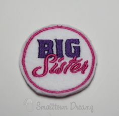 MADE to ORDER Big Sister Felt Applique (Set of 4) UNCUT,Feltie,