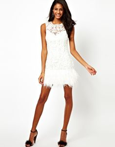cc39be6a66 Image 4 of Lipsy VIP Feather Trim Dress Bachelorette Party Attire