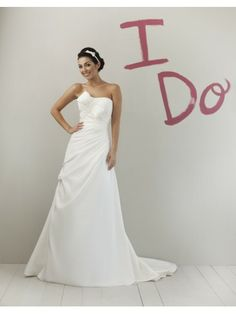 Strapless Delicately Pleated Bodice A-line Wedding Dress
