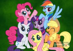 """The Mane Six from """"My Little Pony: Friendship is Magic"""""""