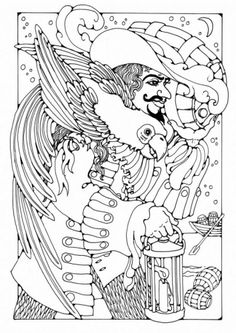 Kleurplaat piraat - smokkelaar